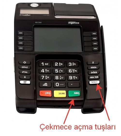 Açma tuşu İngenico iDE280 Para Çekmecesi açma düğmesi